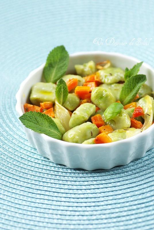 Gnocchi verts petits pois recette