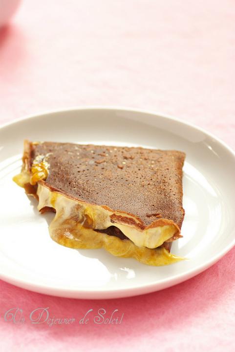 Crepe sans gluten recette cacao quinoa mangue