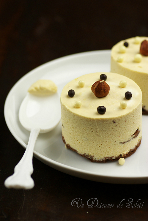 Entremets gateau caramel chocolat blanc praline croustillant Mercotte recette