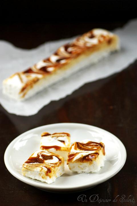 Guimauve caramel vanille marbree sans gluten recette