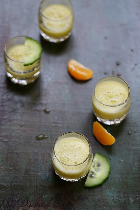 Jus clementine concombre Pierre Herme cocktail recette