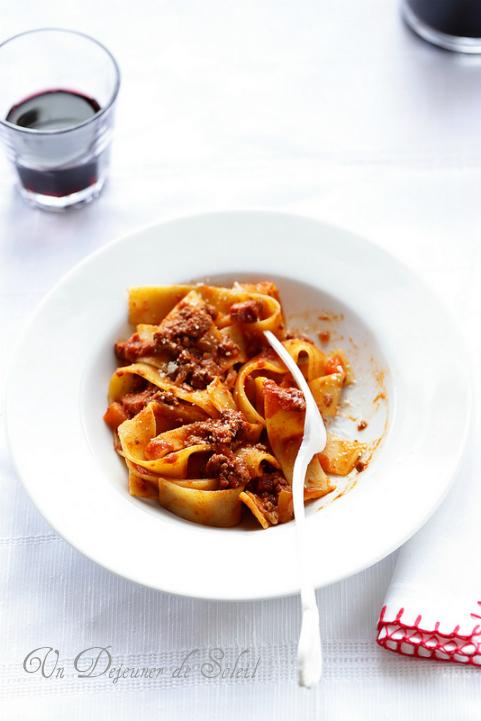 Sauce bolognaise ragu bolognese lasagnes pappardelle
