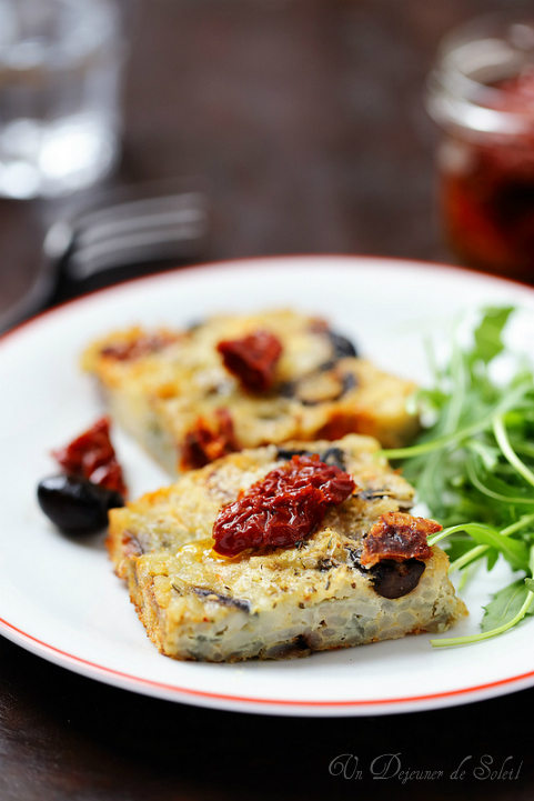 sformato riso gateau riz sale tomates olives mozzarella italien