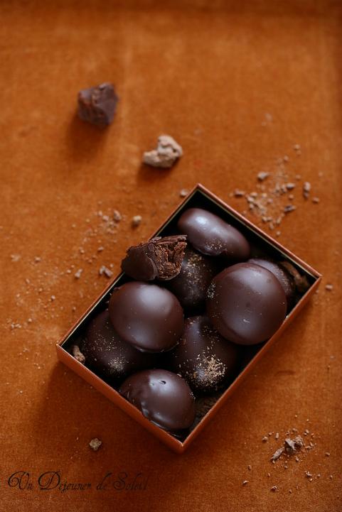 chocolats maison ganache caramel truffes beurre Mycryo
