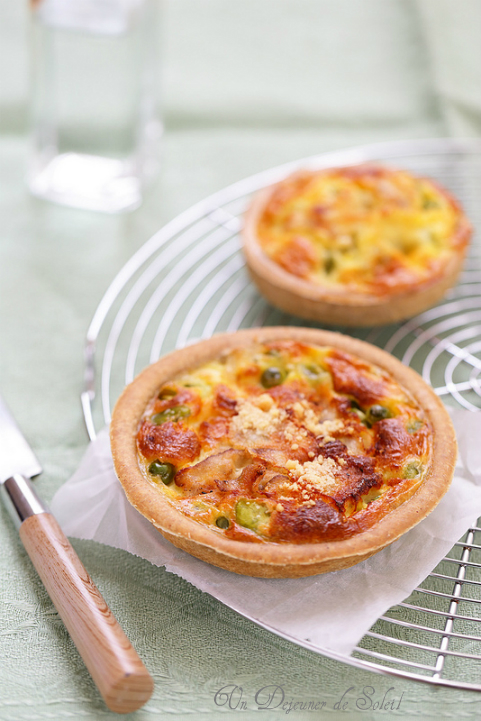 quiche tarte petits pois feves lardo colonnata printemps