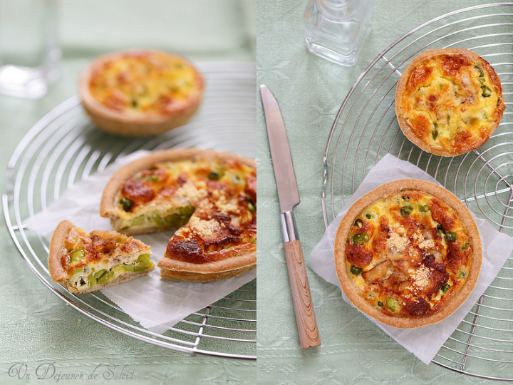 quiche petits pois feves lardo colonnata printemps