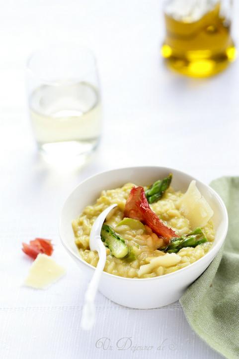 risotto asperges parmesan bresaola cuisine italienne sans gluten