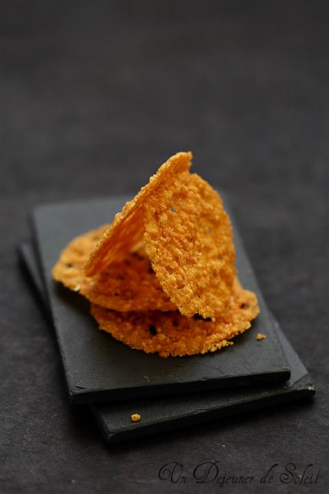 tuiles recette parmesan pecorino fromage