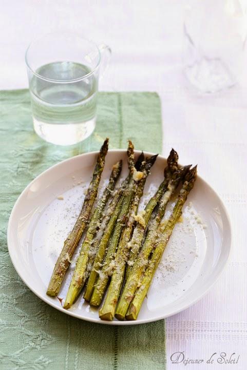asperges roties parmesan Italie
