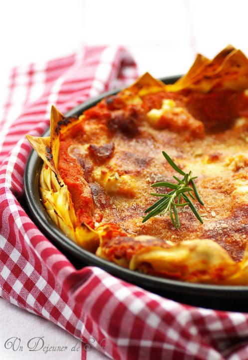 lasagnes ricotta saucisse pecorino ragu