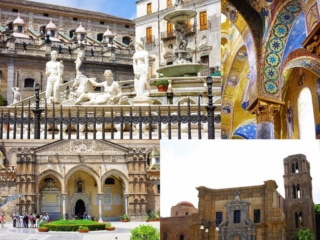 Palerme Sicile cathedrale Martorana Piazza Pretoria