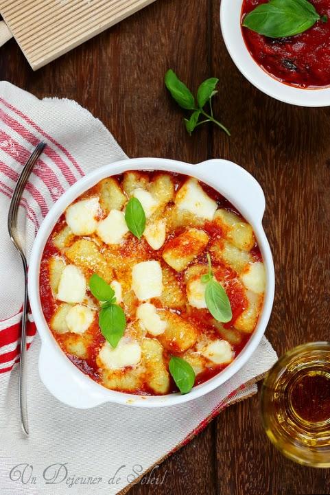 Gnocchi à la sorrentina (tomates, mozzarella et basilic