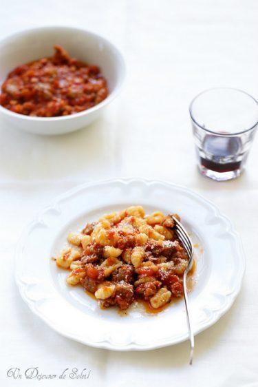 gnocchi sardaigne sauce saucisses campidanese