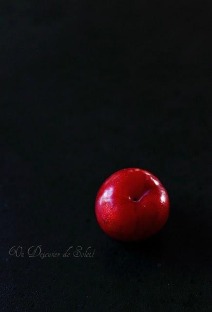 Prunes rouges pour un crumble