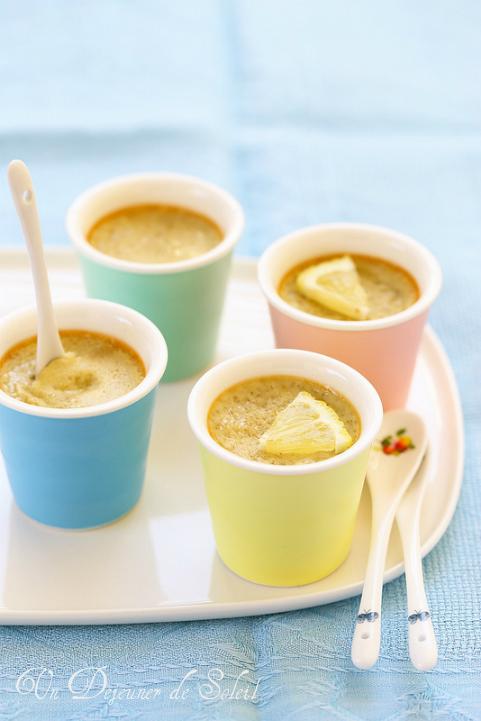 Petites crèmes au coco et citron (sans gluten)