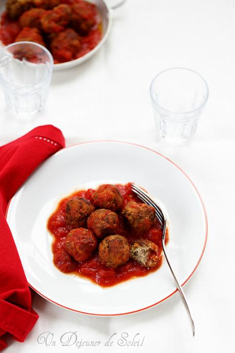 Boulettes de viande sauce tomate comme en Sicile