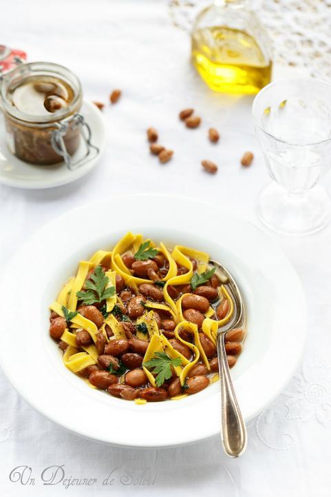Soupe de haricots pâtes et anchois (pasta e fagioli)