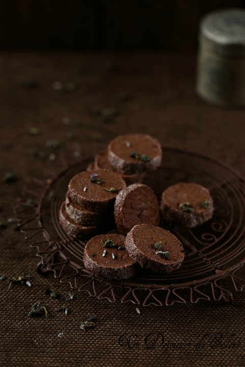 Sablés diamant chocolat lavande