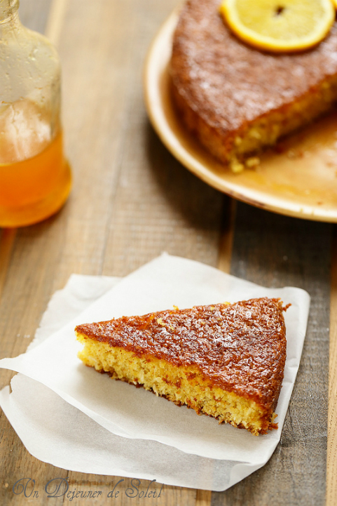 Gâteau orange polenta et amandes