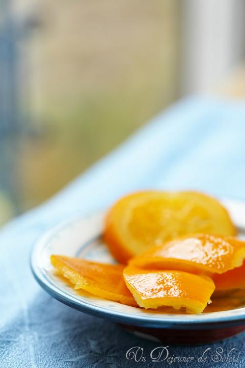 Oranges confites maison (écorce et tranches)