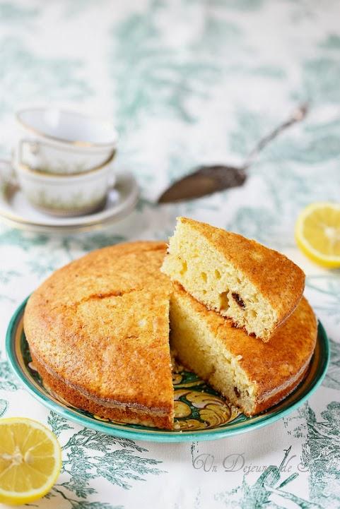 Gâteau sarde ricotta et citron (sans beurre) - Sardinian ricotta cake