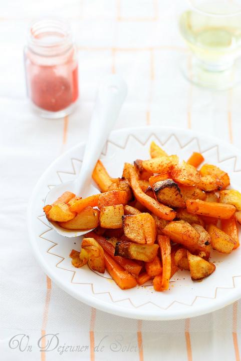 Pommes de terre et carottes rôties aux épices à tandoori