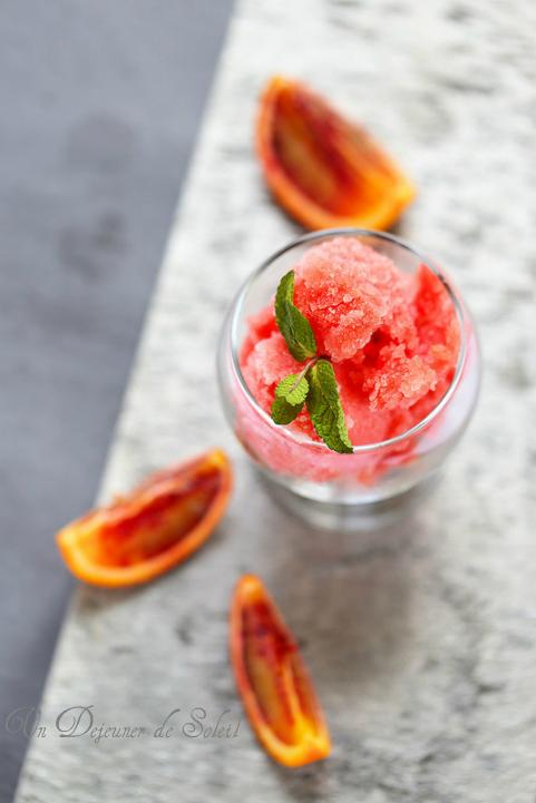 Sorbet orange sanguine pomme