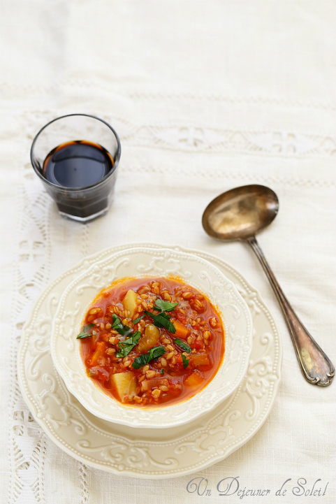 Soupe à l'épeautre comme en Toscane (zuppa di farro)