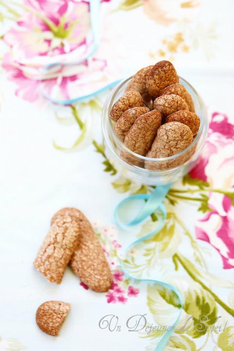 Biscuits à la cuillère maison au cacao - Cocoa ladyfinger