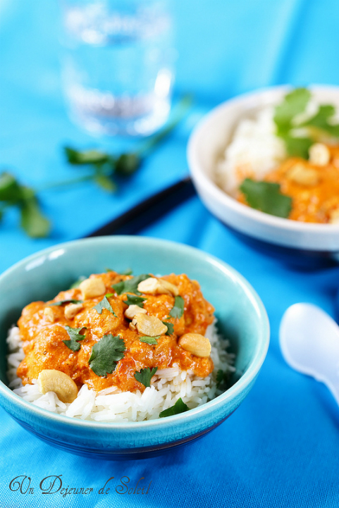 Butter chicken (curry indien de poulet)