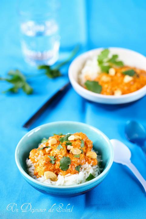 Butter chicken - Curry indien de poulet à la crème toute douce