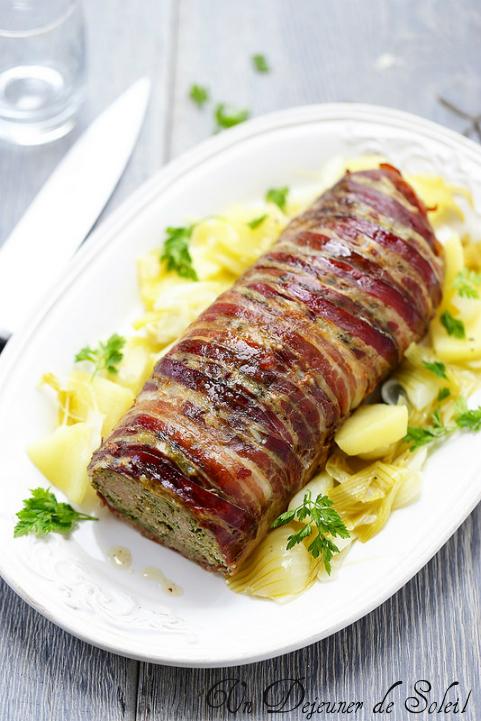 Pain de viande d'agneau aux herbes et pancetta (polpettone d'agnello)