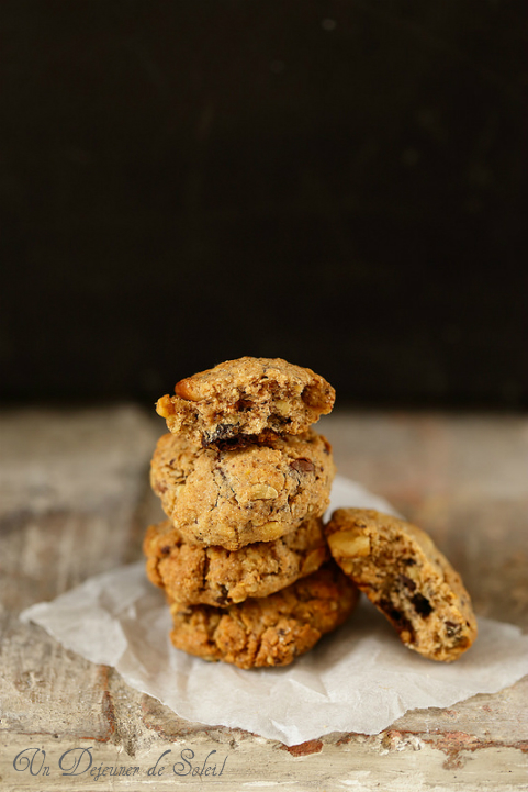 Cookies au chocolat, noix, flocons d'avoine, différentes farines... - Special chocolate chips cookies