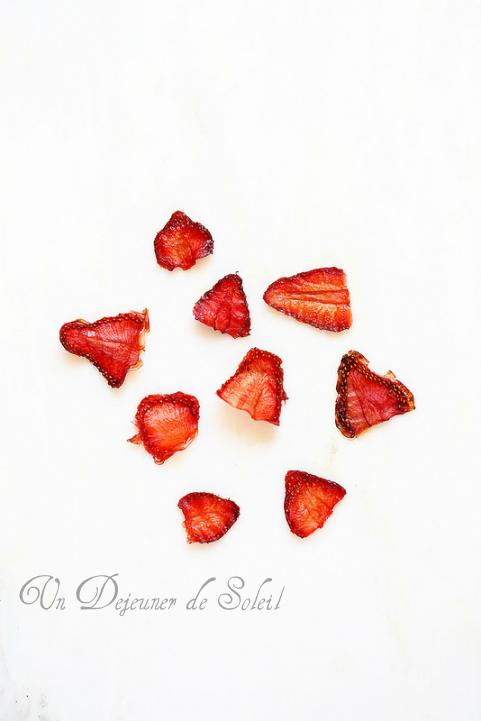 Chips de fraises séchées