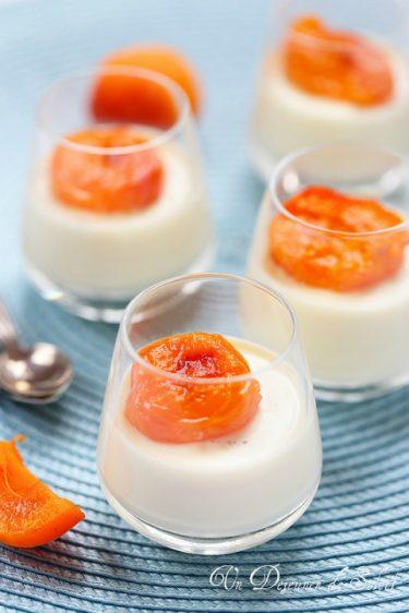 panna cotta fleur oranger abricots rotis facile et raffinee