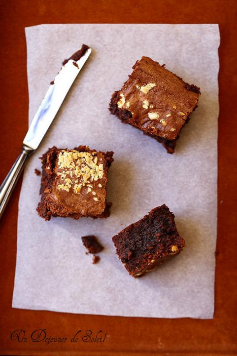 Brownies au beurre de cacahouètes - Peanut butter brownie