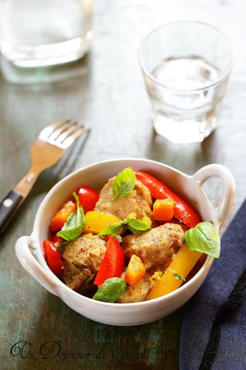 Agneau mijoté aux poivrons comme en Italie - Lamb and pepper cocotte