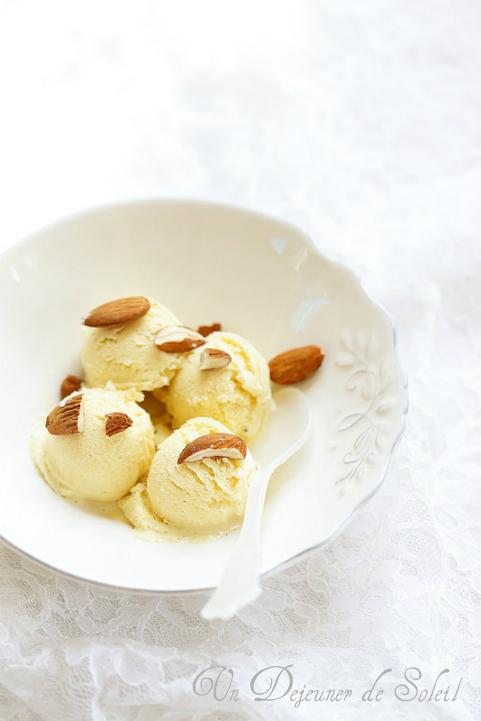 Glace aux calissons facile (sans oeufs) - Calissons ice-cream