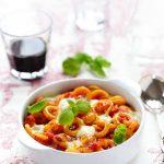 gratin pates tomates mozzarella