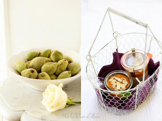 Amandes fraîches et blanc-manger coulis d'abricots - Almonds and apircots coulis blanc-manger