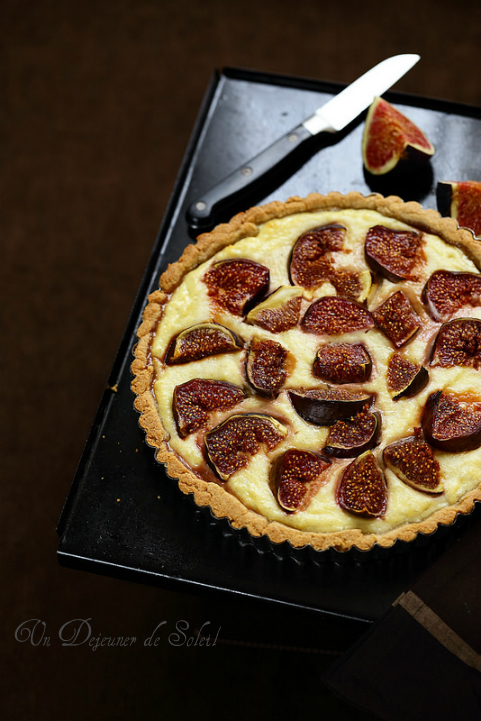 Tarte figues ricotta vanille - Figs and ricotta tart