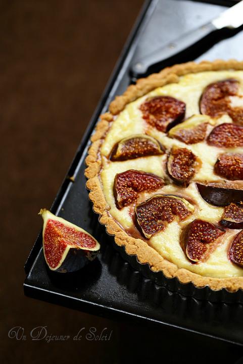 Tarte ricotta figues vanille - Italian ricotta and figs tart