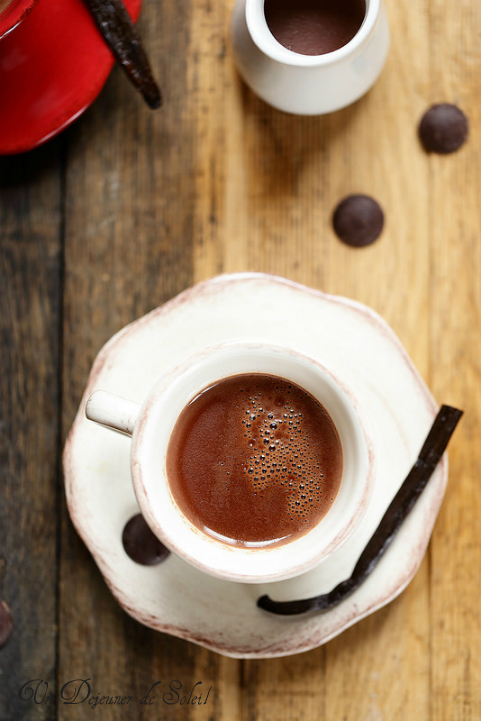Chocolat chaud maison vanille