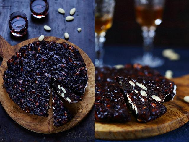 Panforte toscan au chocolat, amandes et agrumes