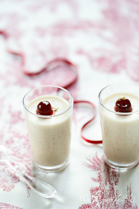 Panna cotta mousseuse aux marrons