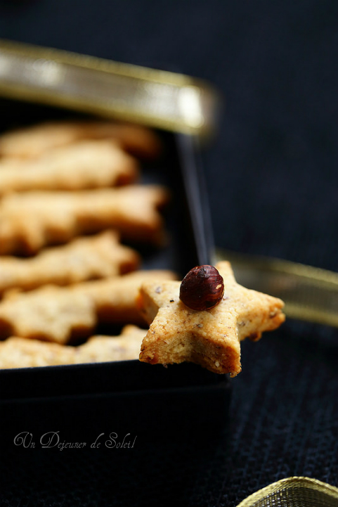Sablés apéritif parmesan noisettes