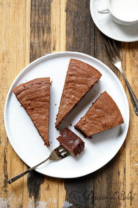 Fondant au chocolat et à la crème de marrons. Facile et du placard