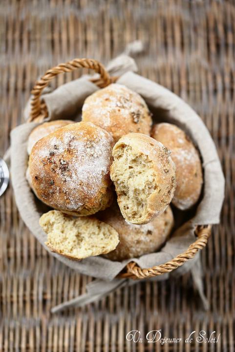 Petits pains facile à la farine d'épeautre (sans pétrissage)