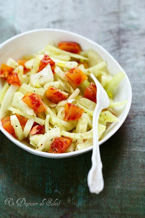 Salade italienne de fenouil et d'oranges sanguines