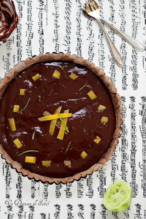 Tarte au chocolat et au citron vert